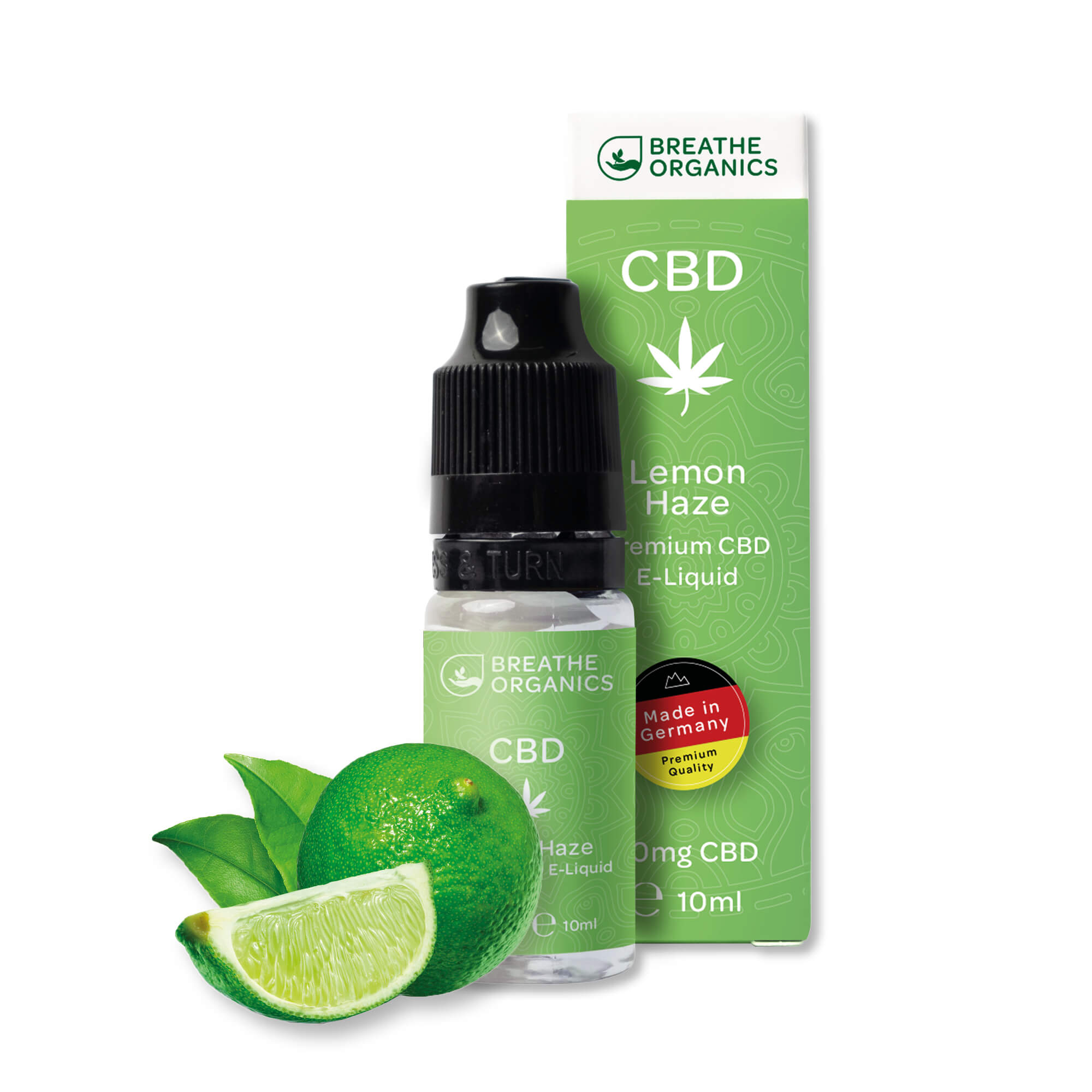 Breathe Organics - CBD Liquid Lemon Haze 100mg