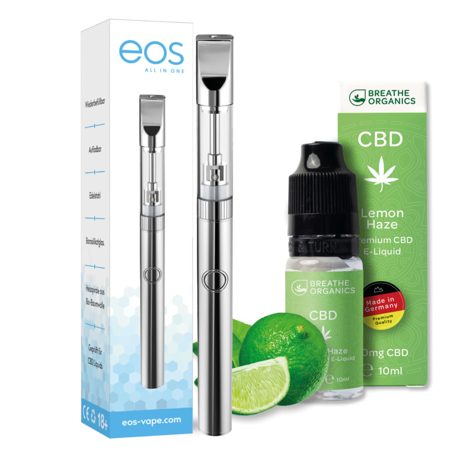 Premium Starter Kit CBD Liquid Vape Pen Breathe Organics