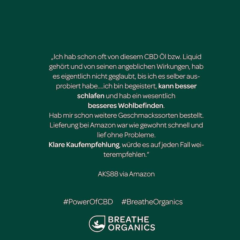 Breathe Organics Bewertung