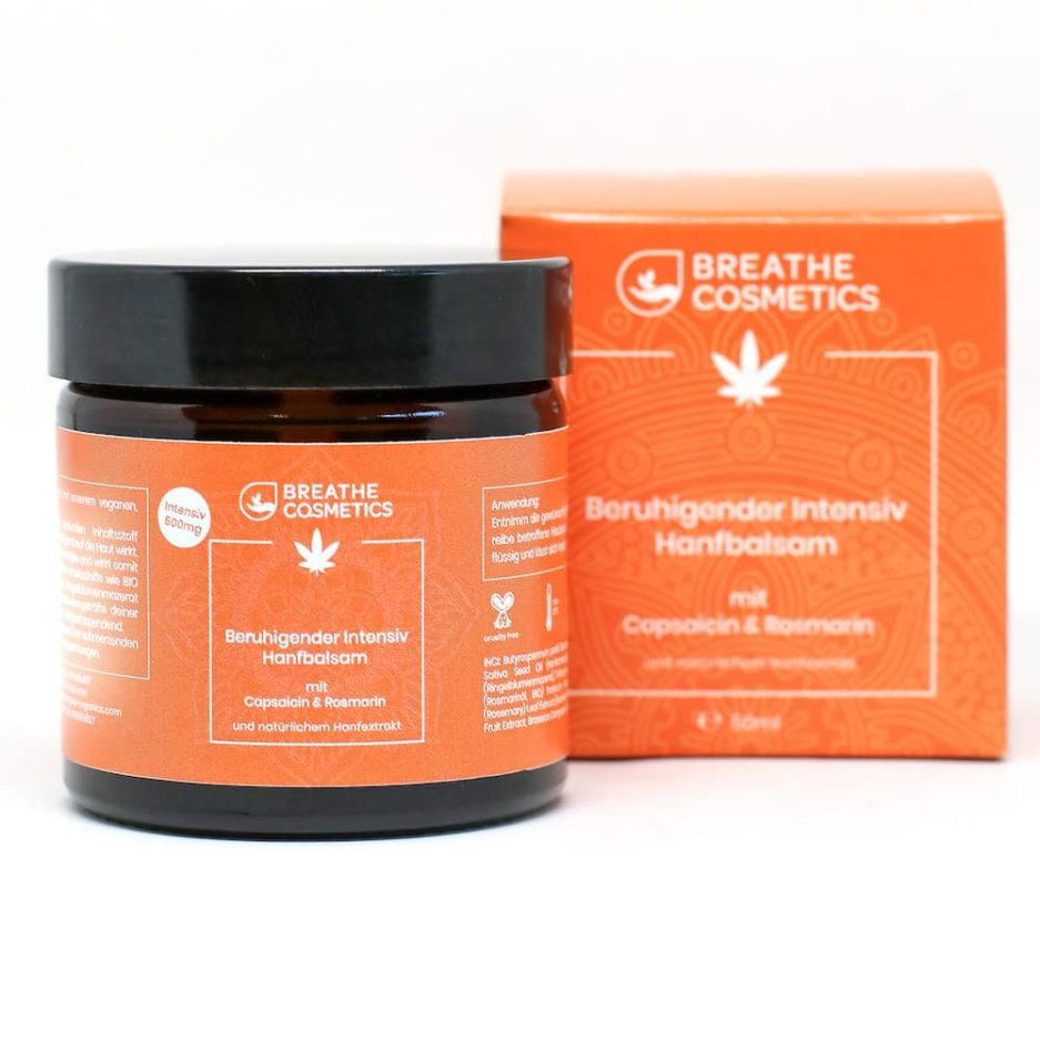 intensiv hanfbalsam breathe cosmetics